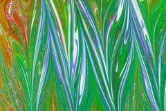 Бумага Ebru- мраморная Стоковые Изображения