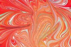 Бумага Ebru- мраморная Стоковое Изображение