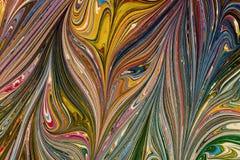 Бумага Ebru- мраморная Стоковое Изображение RF