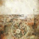 бумага grunge предпосылки абстрактного искусства Стоковая Фотография