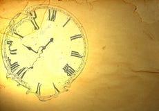 Бумага Grunge с разжиженными часами иллюстрация вектора