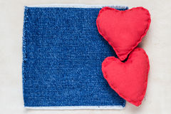 Бумага Handmade сердец предпосылки валентинок старая Стоковые Изображения
