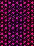 Бумага hologram сделанная сердец и влюбленности в ультрафиолетов и розовых цветах для обоев или предпосылок Стоковое Фото