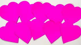 Бумага Manyheart на белизне Стоковое Изображение RF