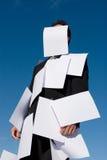бумаги бизнесмена покрытые Стоковое Изображение