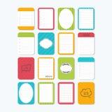бумаги примечания собрания различные Шаблон для тетрадей мило иллюстрация вектора