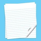 бумаги примечания иллюстрация вектора