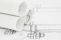 бумаги проекта конструкции Стоковые Изображения