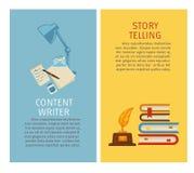 Бумаги содержания и статьи говорить писателя и рассказа бесплатная иллюстрация