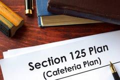 Бумаги с планом столовой плана раздела 125 Стоковая Фотография RF