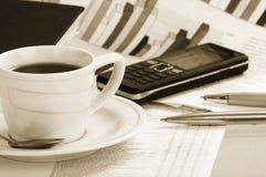 бумаги утра кофейной чашки Стоковое Изображение RF