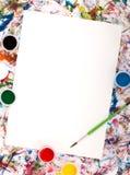 бумажная акварель выплеска Стоковые Изображения