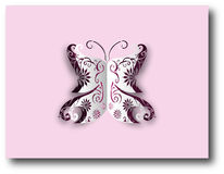 Бумажная бабочка выреза Стоковые Фотографии RF
