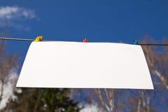 бумажная белизна листа Стоковая Фотография