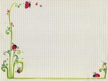 бумажная весна придала квадратную форму Стоковое Изображение