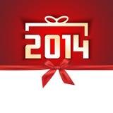 Бумажная года карточка 2014 подарка Стоковое фото RF