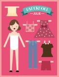 Бумажная женщина /illustration куклы Стоковое Фото
