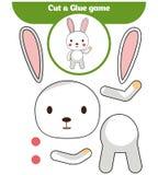 Бумажная игра для развития детей дошкольного возраста Отрежьте части изображения и крепить бумага иллюстрация штока