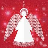 Бумажная иллюстрация ангела Стоковые Изображения
