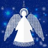 Бумажная иллюстрация ангела Стоковые Изображения RF
