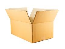 Бумажная коробка изолированная на белой предпосылке Стоковое Изображение RF