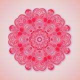 Бумажная мандала Розовая предпосылка Стоковое Фото