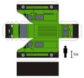Бумажная модель фургона стоковая фотография rf