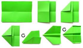 бумажная плоскость 10 Стоковая Фотография