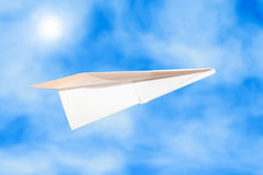 бумажная плоскость Стоковая Фотография RF