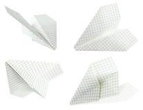 бумажная плоскость Стоковые Изображения RF