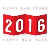 Бумажная поздравительная открытка створки 2016 Стоковое Фото