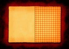 бумажная приданная квадратную форму часть пожелтела Стоковое фото RF