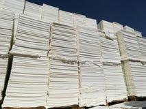 Бумажная пульпа для бумажной промышленности, сырцовая бумага стоковая фотография