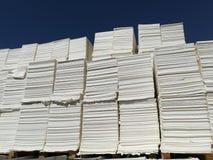 Бумажная пульпа для бумажной промышленности, сырцовая бумага стоковое изображение rf