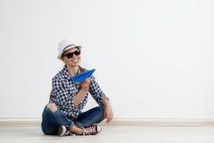 бумажная плоская женщина Стоковые Фотографии RF