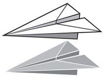 Бумажная плоскость Стоковые Изображения
