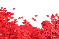Бумажная рамка сердец Стоковое Фото