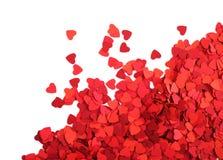 Бумажная рамка сердец Стоковое Изображение
