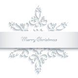 Бумажная рамка снежинки Стоковая Фотография