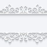Бумажная рамка с swirly орнаментом границы Стоковые Изображения RF