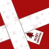 Бумажная рождественская открытка подарка Стоковые Изображения