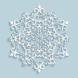 Бумажная снежинка шнурка Стоковая Фотография