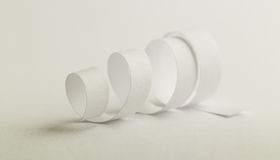 бумажная спиральн белизна Стоковые Фотографии RF