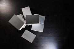 Бумажная спичка кладет шаблон в коробку Contraast картона коробок белый пустой Стоковая Фотография