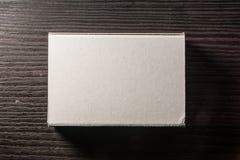 Бумажная спичка кладет шаблон в коробку Contraast картона коробок белый пустой Стоковая Фотография RF