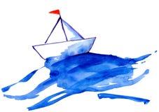 Бумажная ступица на воде Стоковые Фотографии RF