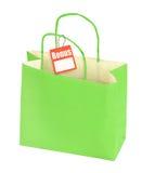 Бумажная сумка и пустой ценник стоковые изображения rf