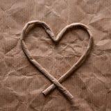 Бумажная текстура - лист коричневой бумаги Стоковая Фотография