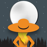 Бумажная луна Стоковое Фото