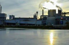 Бумажная фабрика в Канаде Dryden стоковое фото